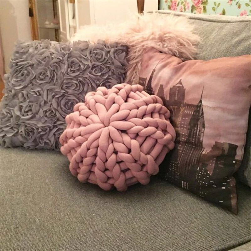 Nordic Style Round Woven Pillow Sofa Pillow Home Decorative Pillows Hand Made Cushion Pillow Support For Neck Hot SaleNordic Style Round Woven Pillow Sofa Pillow Home Decorative Pillows Hand Made Cushion Pillow Support For Neck Hot Sale