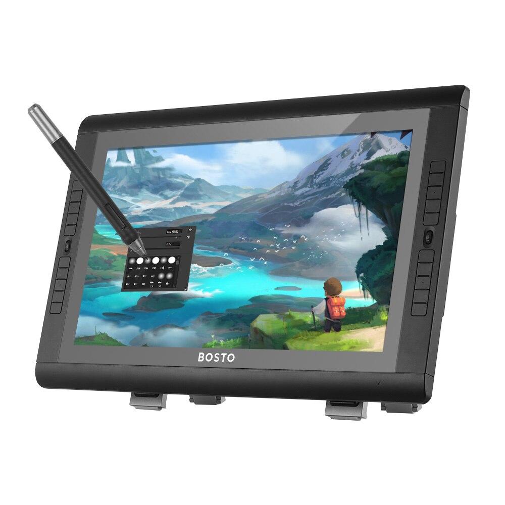 BOSTO 22UXR 21.5 Pouces Affichage Graphique Interactif Stylo Moniteur tablette de dessin HD Écran 8192 Niveau Stylo Pression