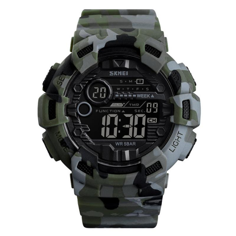 Men's Watches Outdoor Sports Electronic Watches Student Camouflage Large Dial Fashion Business For Men Male Wrist Band Clock Watch Wristband Watches