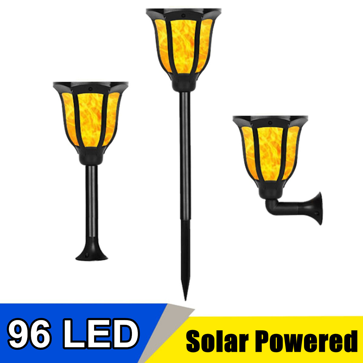 LEDs Solar LED Flame Lamp IP65 Waterproof Lawn Dancing Flicker Torch Lights Outdoor Garden Path Decoration Landscape Lights