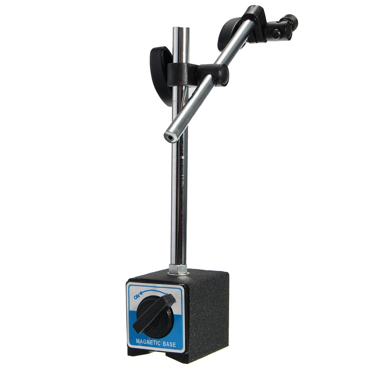 New Magnetic Base Holder Stand With Double Adjustable Pole For Dial Digtal Indicator Test Gauge Ymb-B ON/OFF Tool Parts