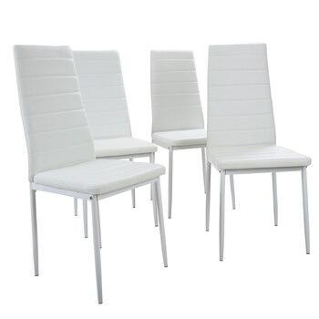 Panana Ã�イニングテーブルで設定 4/6 ŀ�椅子フェイクレザー高金属脚パッド入りシートキッチン