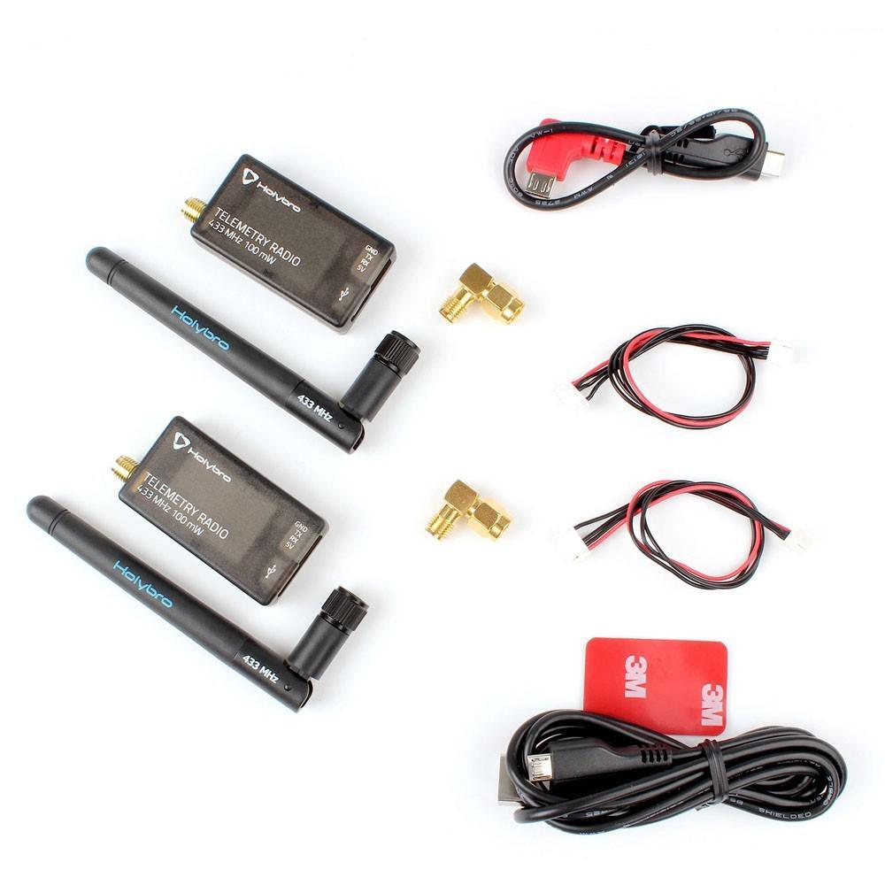 Holybro 433 Mhz 915 Mhz 500 mW Émetteur-Récepteur Radio Télémétrie Set V3 pour PIXHawk 4 contrôleur de vol