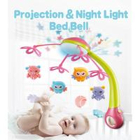 Baby Rattle Infant Bell Toys Music Crib Rotating Light Remote Control For Baby Early Learning Kids Toy
