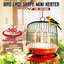 4x Electric Fan Room Heaters 220V 400-800W Energy-Saving Bird Cage Shape Desktop Heating Device(China)