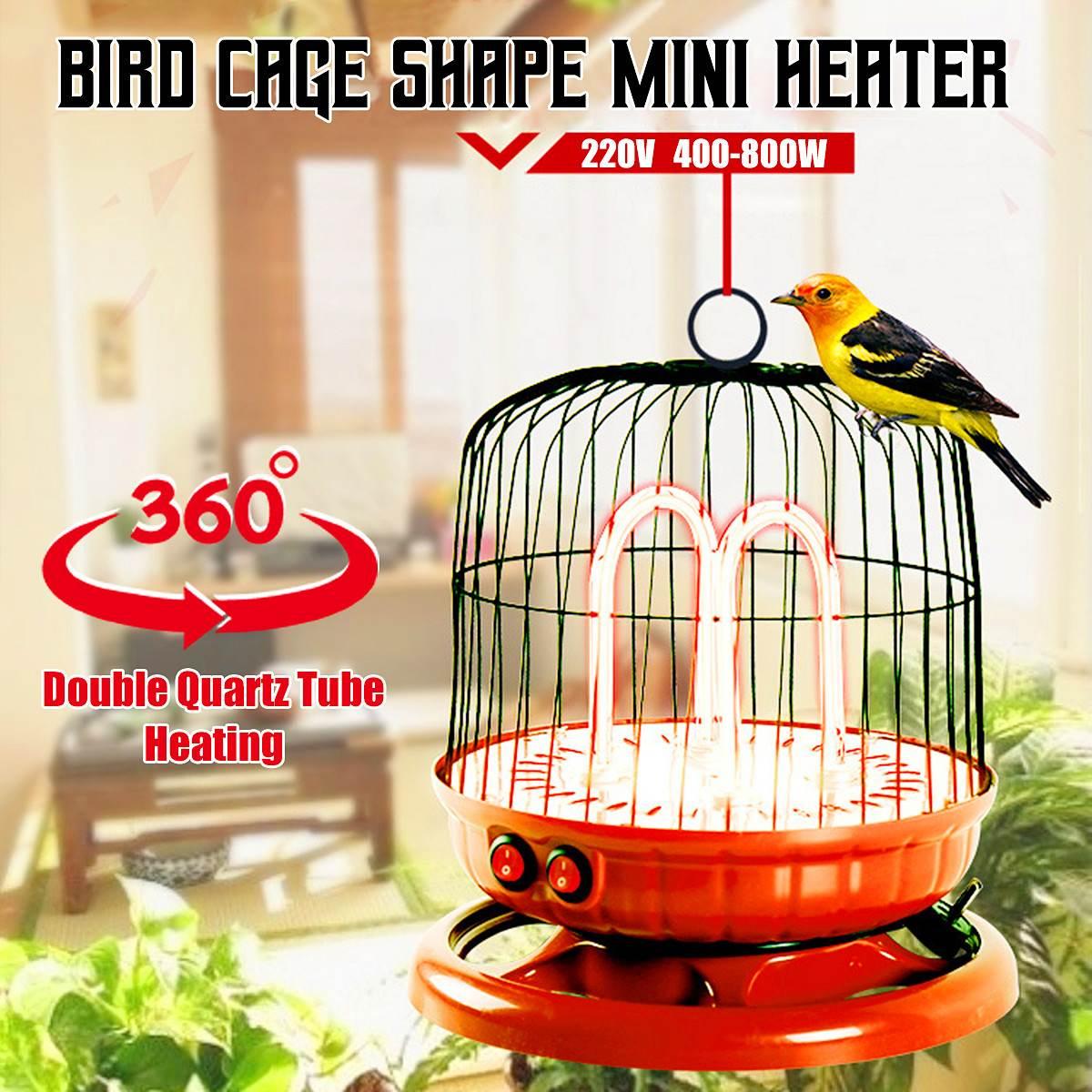 4x Electric Fan Room Heaters 220V 400 800W Energy Saving Bird Cage Shape Desktop Heating Device