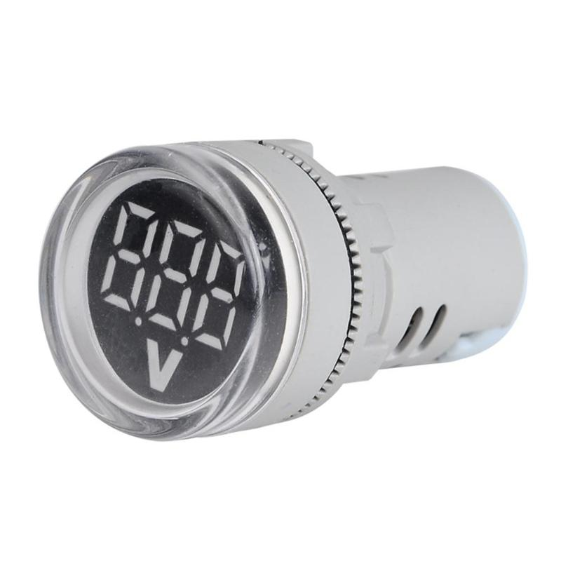6 100V DC Digital Display Voltmeter Indicator LED Lamp Round Signal Light Clear display accurate reading easy to use Small in Voltage Meters from Tools