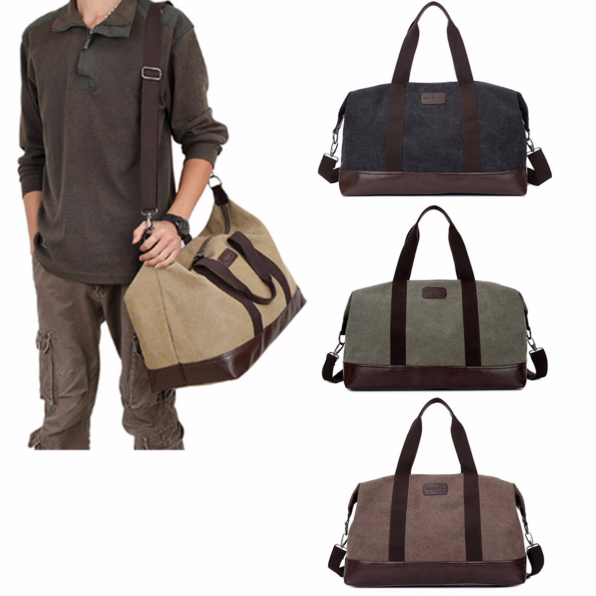 Large Capacity Canvas Travel Bags Casual Men Hand Luggage Travel Duffle Totes Bag Big Male Crossbody Bag Bolsos Waterproof