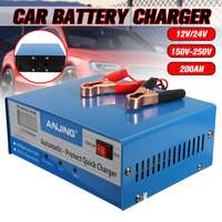 Car Battery Charger Autoleader Applicable to 12V/24V US Plug Lead Acid Battery PWM Five Charging Modes Digital Repairing Method