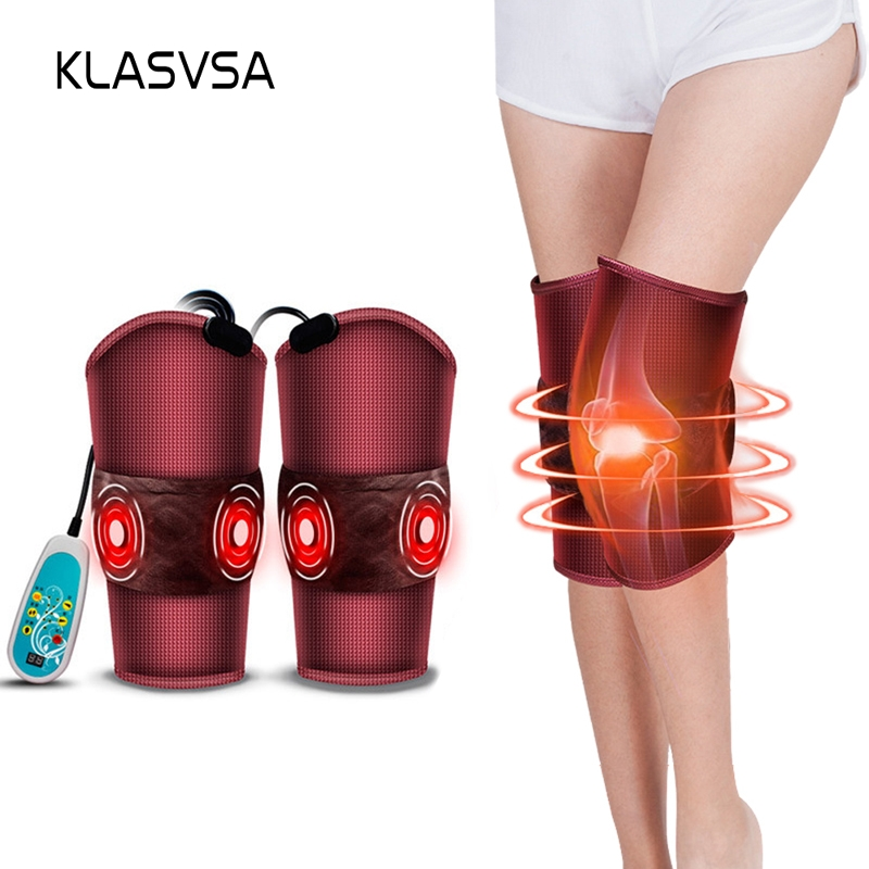 KLASVSA Electric Heating Back Knee Massage Arm Waist Pain Relief Vibration Massager Electronic Muscle Stimulator Health