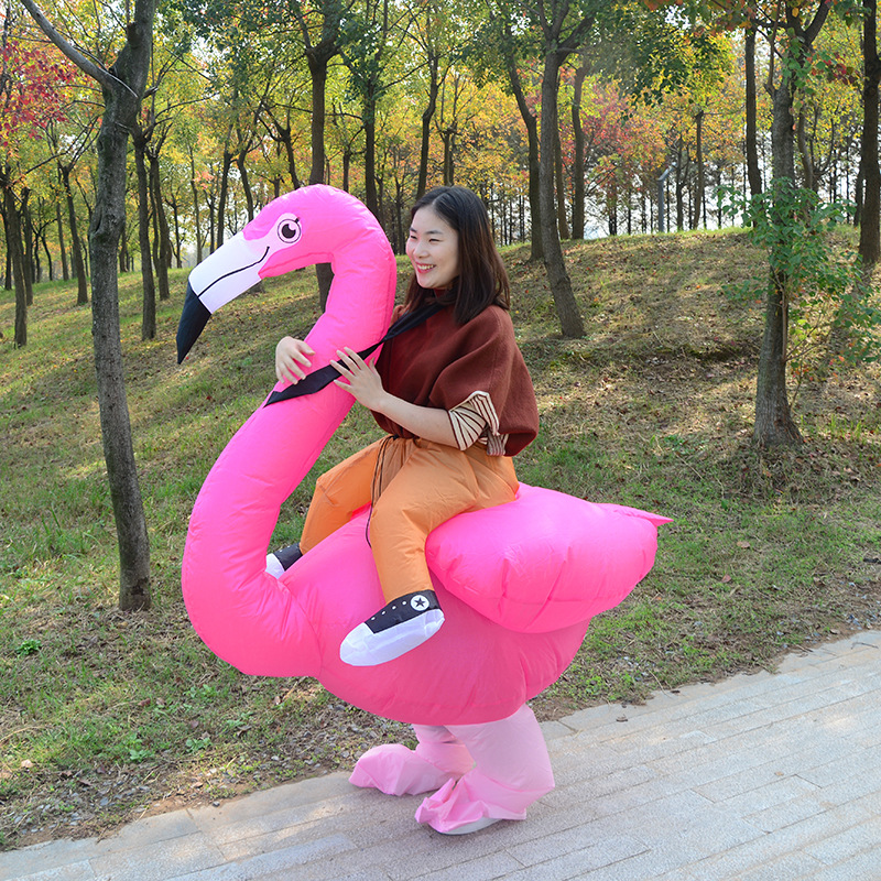 Parent-child Outfit Mother Daughter Party Dress Inflatable Flamingo Costume Purim Halloween Costumes Cosplay Pants