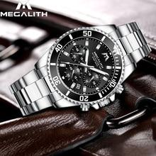 MEGALITH Mode Heren Horloges Topmerk Luxe Waterdichte Colck Rvs Heren Quartz Horloge Gents Sport Horloge