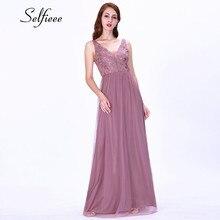 Sweet Long Embroidery Dress Women New Fashion A Line V Neck Appliques Elegant Ladies Dresses Evening Pary Summer Bohemian Dress
