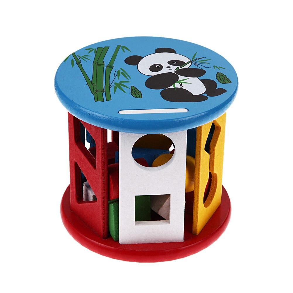 Kinder Holz Blöcke Spielzeug Bunte Box Form Gebäude Bau Spielzeug Kinder Kognitiven Passenden Spielzeug Eductional Baustein