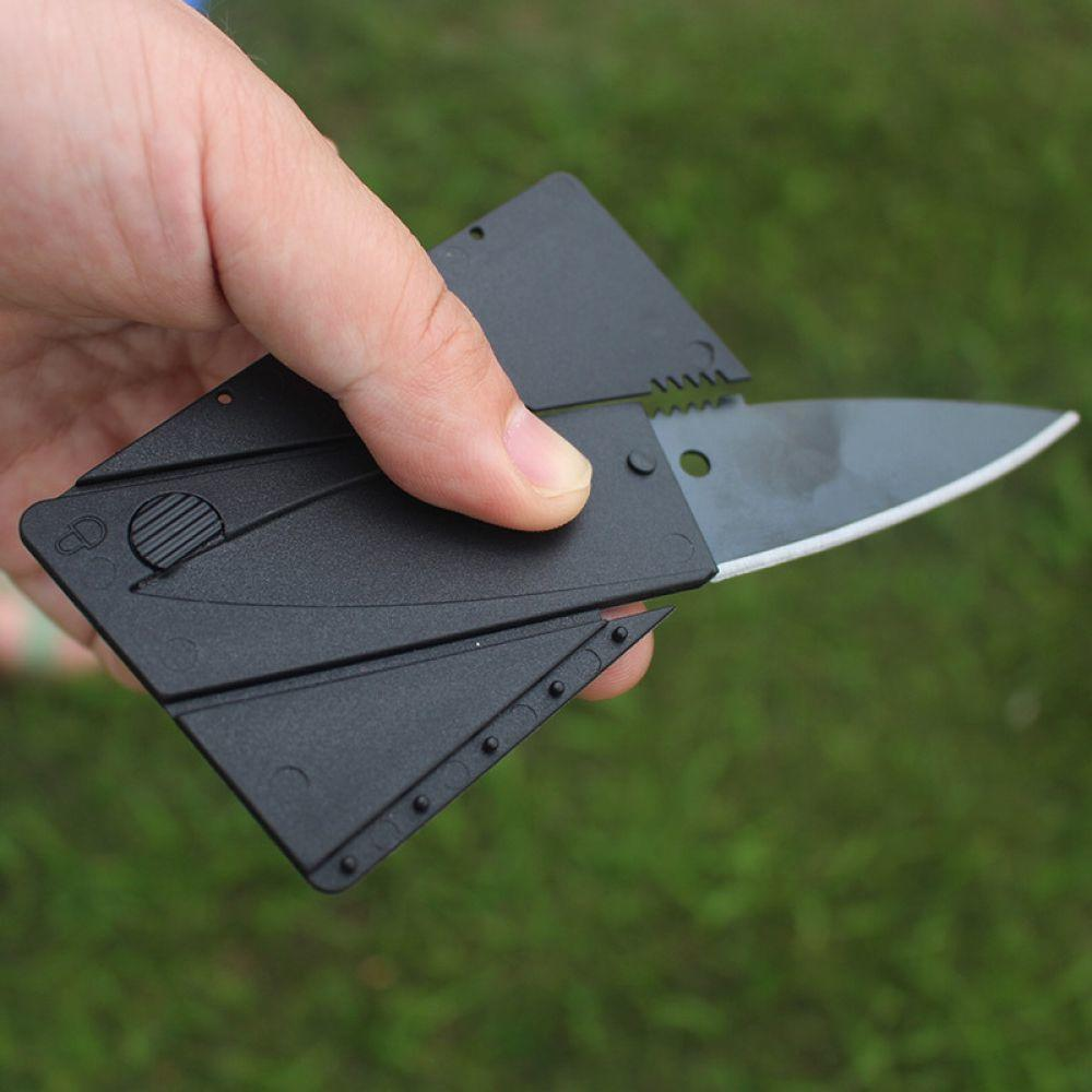 Outdoor Folding Card Knife Steel Camping, Knife Folding Card Tools Multi Stainless +TPR Fishing, Hunting Card Knife booms fishing fk2 fishing knife 2 pieces stainless steel paring knife fish knife fillet floating