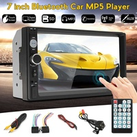 7 inch 2 Din bluetooth Touchscreen Car Radio MP5 Player AUX/USB/FM Video Audio Multimedia Stereo Autoradio + Rearview Camera