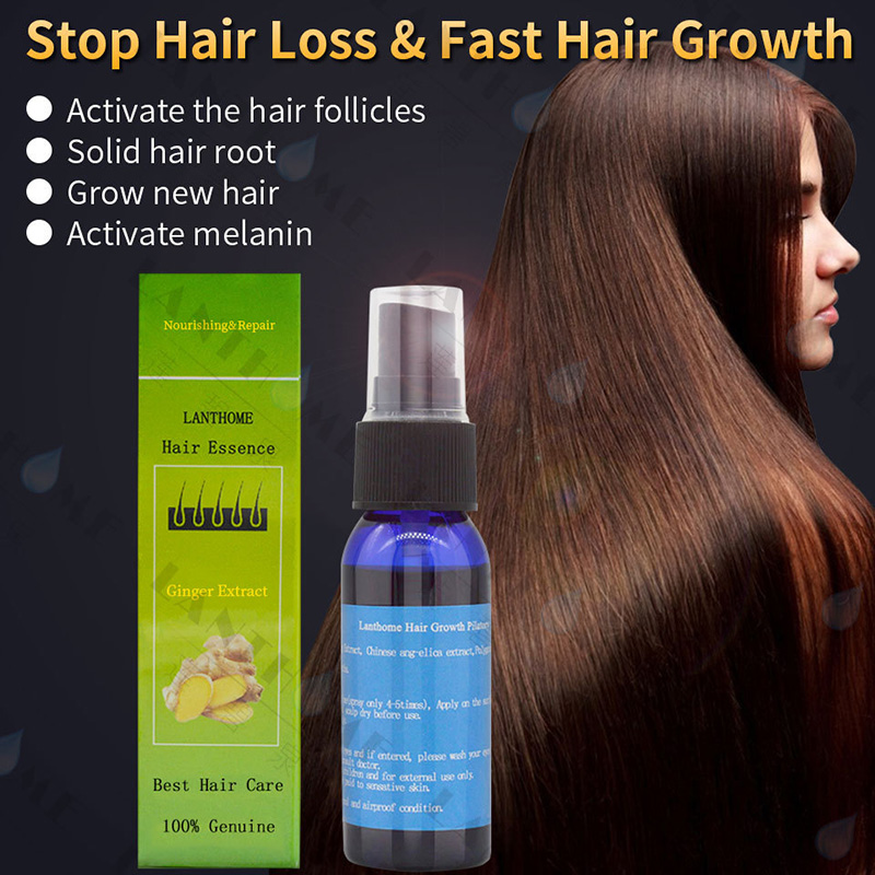 Men Women Ginger Extract Hair Care Liquid Nourishing Essence Dry Hair Treatment