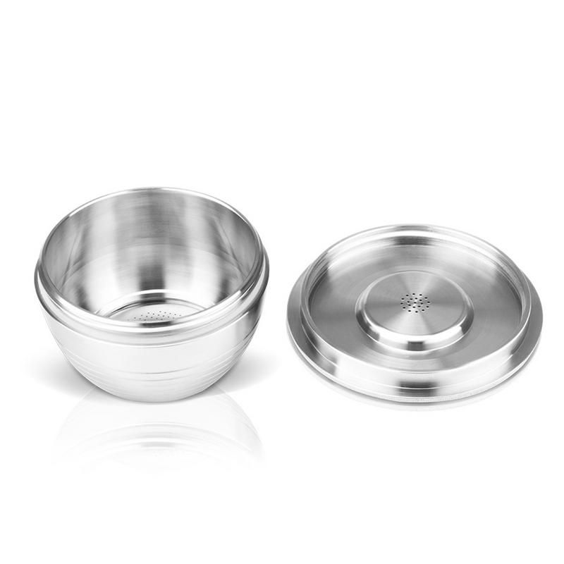 Birthday:  Stainless Steel Coffee Filter Refillable Coffee Capsule Shell Tamper Reusable Coffee Pod Business Birthday Coffeeware Gift - Martin's & Co