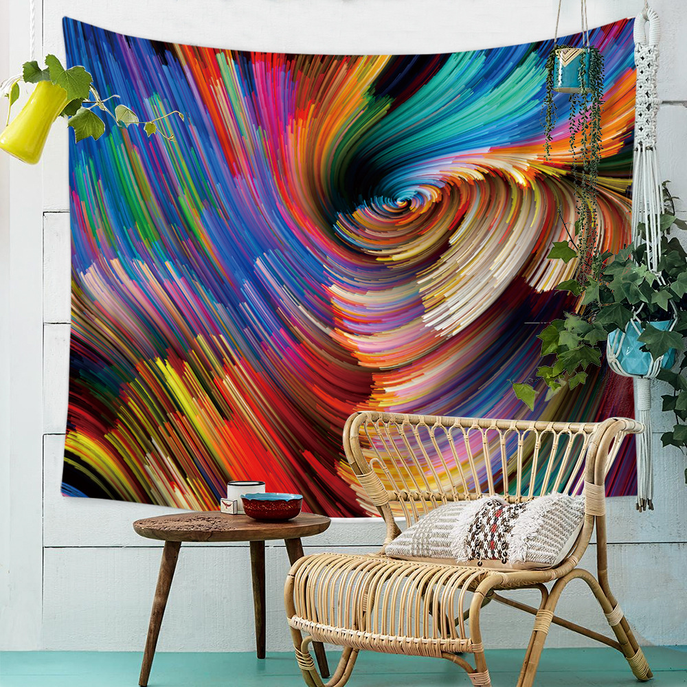 Trippy Psychedelic Tapestry Wall Hanging Colorful Cloth ...