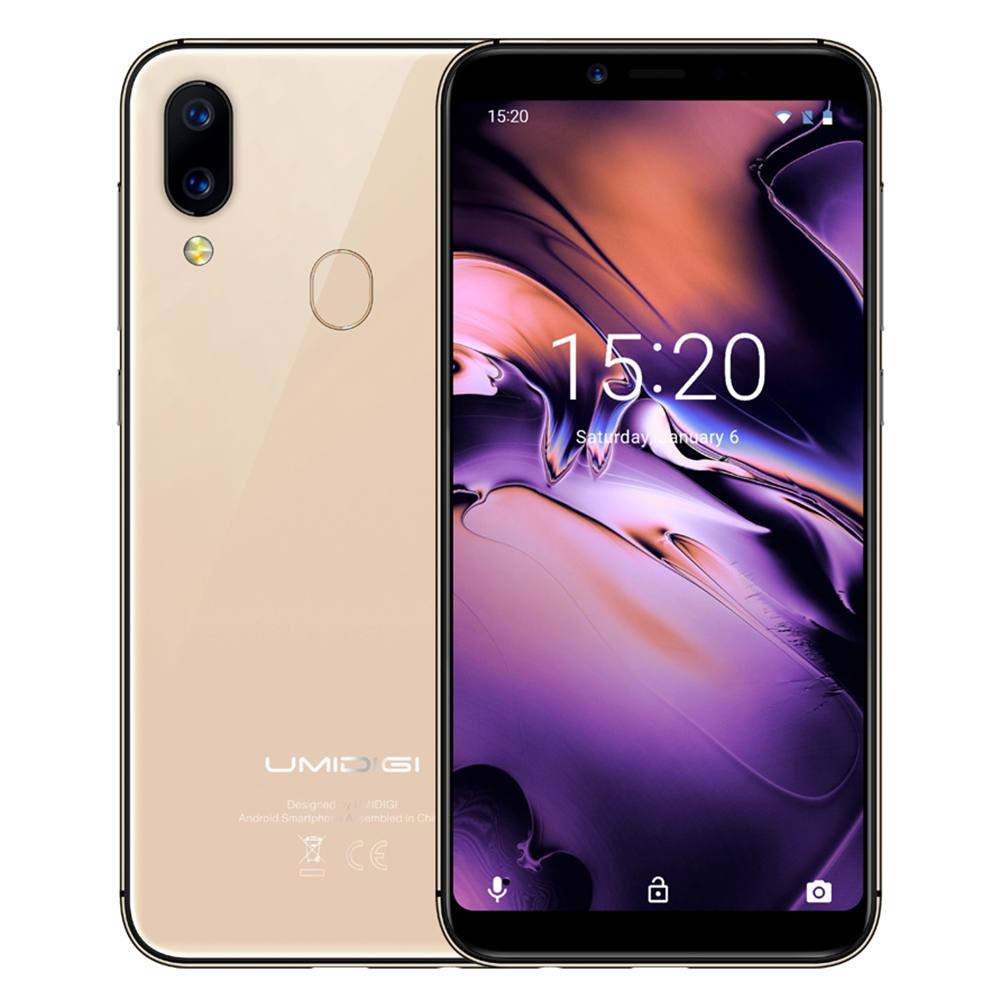 "Global UMIDIGI A3 Smartphone 4G Android 8.1 5.5"" Phablet 12.0MP MTK6739 Quad Core 1.5GHz 2GB RAM 16GB ROM 3300mAh Mobile Phone"