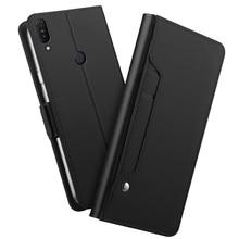 حافظة لجهاز Asus Zenfone Max Pro M1 ZB601KL/ZB602KL مزودة بمرآة مع مسند فاخر مصنوع من الجلد وحامل محفظة بغطاء ZB602KL