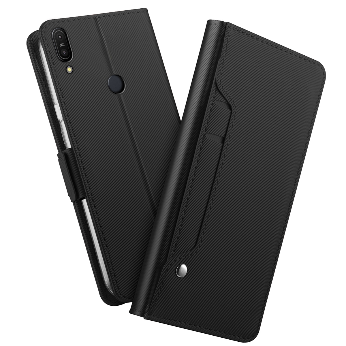 For <font><b>Asus</b></font> Zenfone Max Pro M1 <font><b>ZB601KL</b></font>/ZB602KL Case with Mirror Kickstand Luxury Leather Flip Stand Wallet Cover ZB602KL Case Card image
