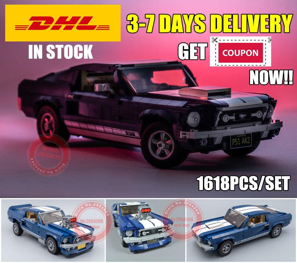 Nouveau technique voiture 21047 créateur Expert Ford Mustang fit legoings Technic 10265 ville blocs de construction briques bricolage jouets cadeau d'anniversaire