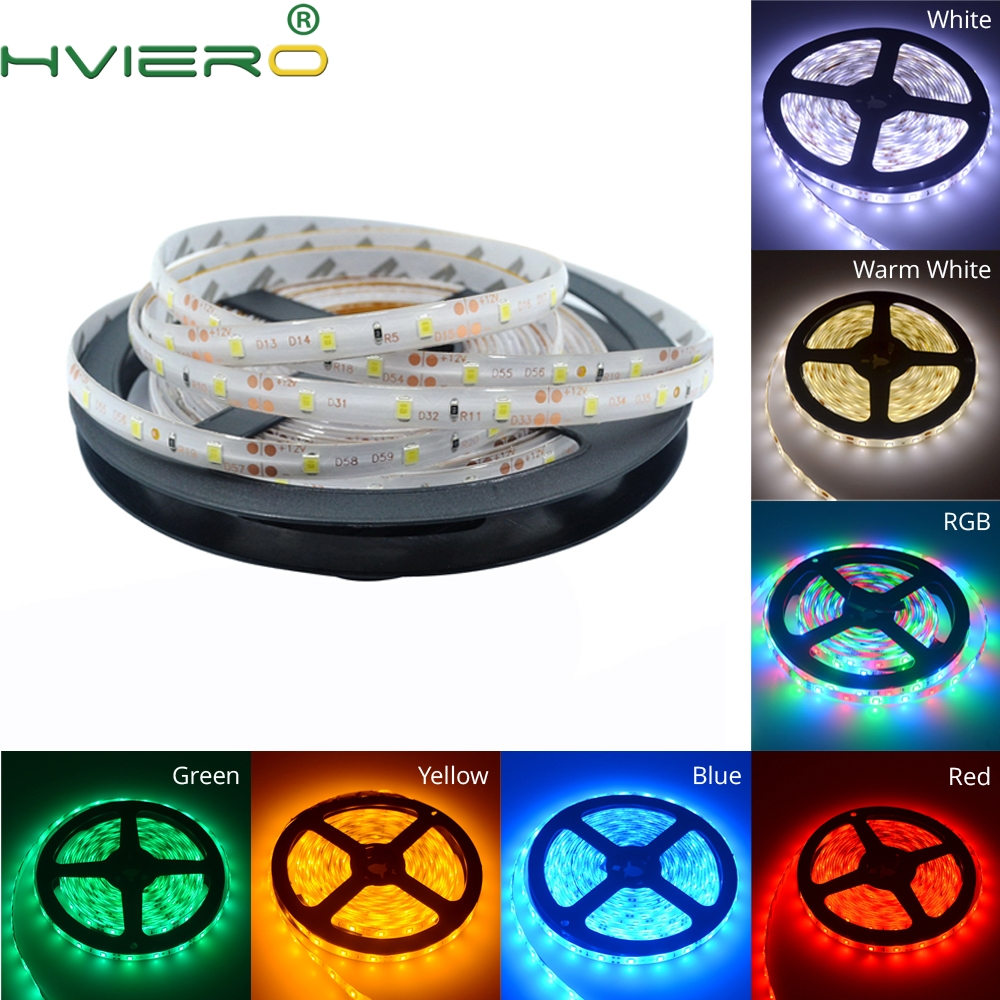 5m 2835 Waterproof Led Strip RGB Desk Light DC 12V 300Leds Flexible Night Lighting Home Decoration Lamp Ribbon Tape Holiday Bulb
