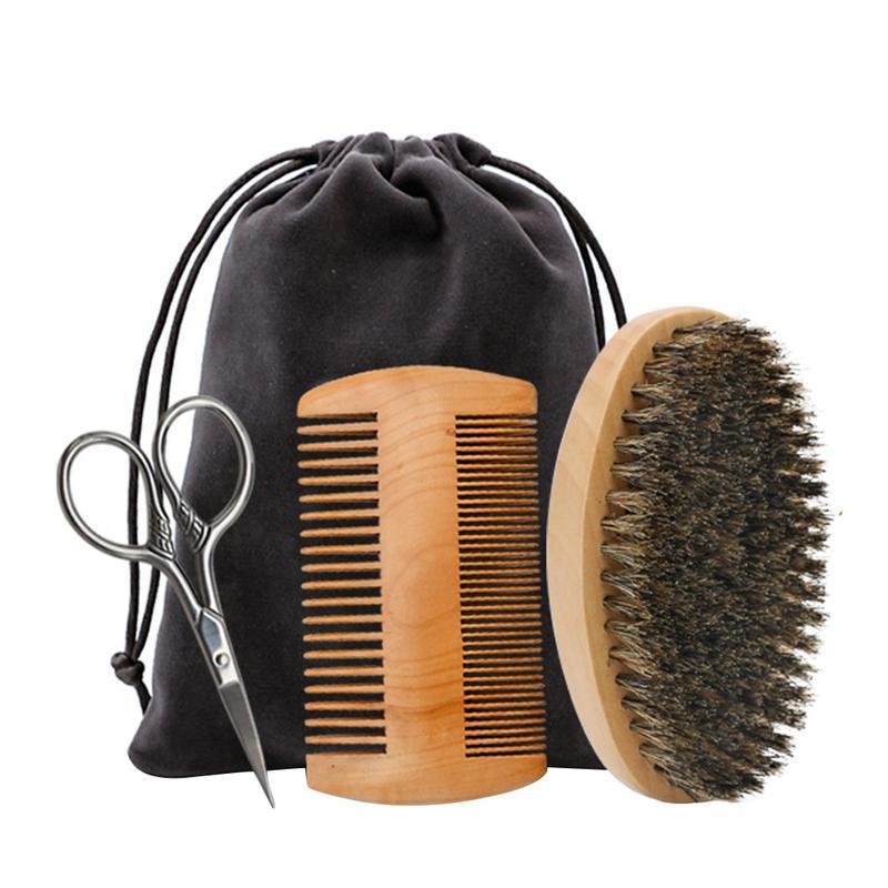 4Pcs Styling Tools Comb Beard Shaping Tool Styling Template Beard Comb Men Shaving Tools Gentleman Beard Molding Trim Template