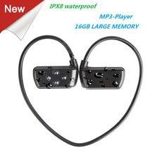 Date 901 P étanche 16G HIFI lecteur MP3 IPX8 natation sports de plein air écouteurs USB MP3 lecteurs de musique