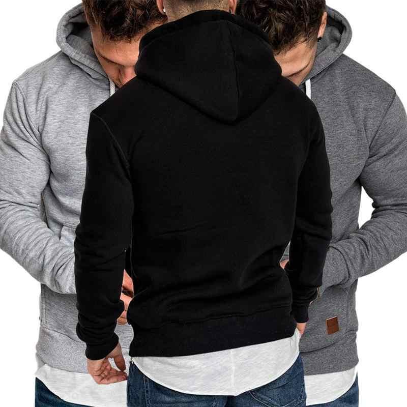 Winter Warm Einfarbig Outdoor Fitness Pullover Schwarz Grau Rot Navy Casual Sweatshirt Hoodie
