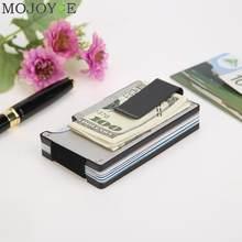 Cartera metálica de acero inoxidable con Clips para tarjetas de crédito para hombre y Mujer, billetera con Clip de sujeción de dinero, bolso para Mujer y hombre