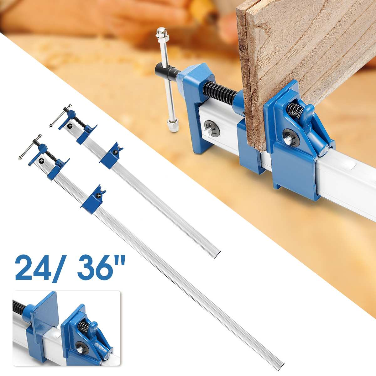 T Bar Wood Clamps DIY Heavy  F Clamp 24/36 for Woodworking Quick Release Fixture Sash Long Cramp Bench Wood GripT Bar Wood Clamps DIY Heavy  F Clamp 24/36 for Woodworking Quick Release Fixture Sash Long Cramp Bench Wood Grip