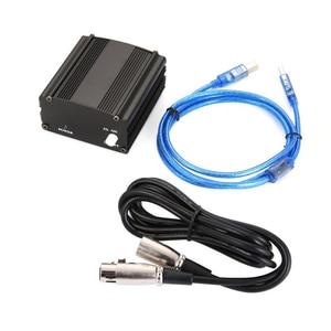 Image 5 - 48v usb fantasma fonte de alimentação cabo usb microfone cabo para mini microfone condensador equipamento de gravação preto