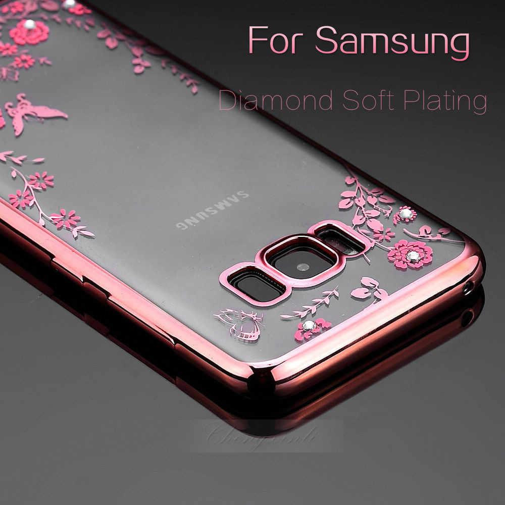 Kim Cương Mềm Mạ Ốp Lưng Dành Cho Samsung Galaxy Samsung Galaxy M10 M20 A30 A50 A9 A7 J8 J4 J6 A6 A8 plus 2018 a750 J6 J4plus thủ NOTE9 S8 Plus