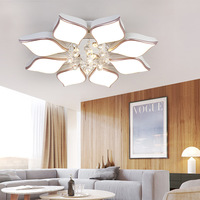 DAR Home Deco Ceiling Chandelier Led To The Living Room Bedroom Lustre Cristal Semiflush Mount Modern Luminaria LED Chandeliers