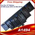 95Wh 11,26 V A1494 Батарея для Apple Macbook Pro 15