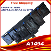 95Wh 11.26V A1494 Apple Macbook Pro 15 인치 Retina A1398 늦은 2013 중반 2014 MGXC2 MGXA2 ME293 ME294