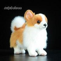 Imitation pomeranian dog plush toy stuffed animal dolls kids christmas gift