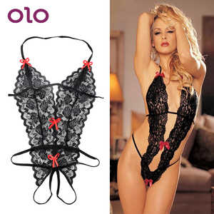 OLO Erotic Lingerie Sexy Costumes Lace Siamese Perspective Three-Point Underwear G-string Sexy Lingerie Adult Products(China)