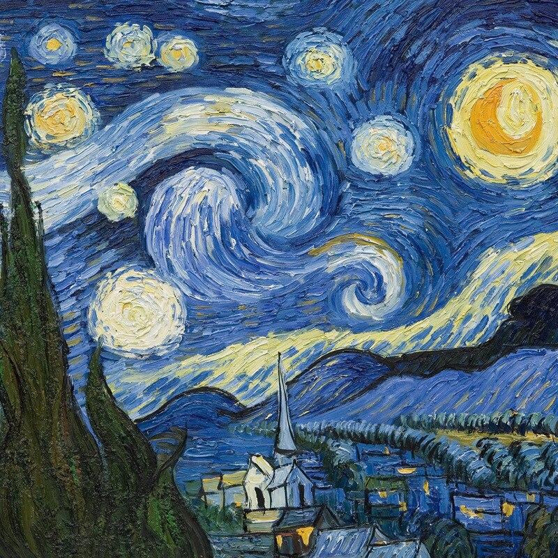 70*70cm 100% Silk Artist Oil Paint Salute Van Gogh Master Designer Original Scarf Light Luxurious Personality Grace Kerchief