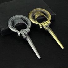 Game of thrones House Hand Of The King Keychain Silver Bronze Key Ring Opener