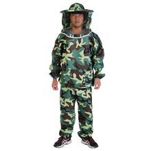Платье+ брюки камуфляж Пчеловодство куртка пчела защитная одежда вентилируемые Пчела Костюмы Мужчины Женщины универсальная одежда