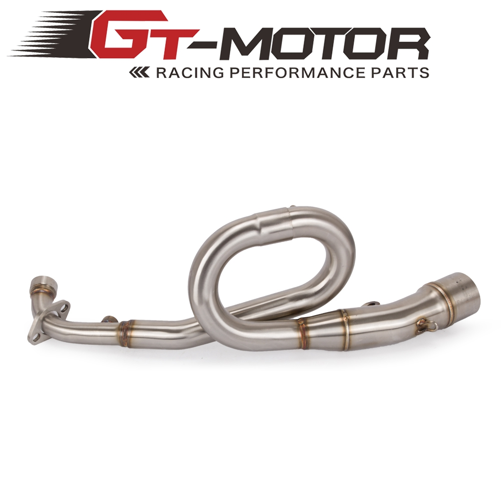 Motorcycle Exhaust System Connecting Middle Pipe Slip-On Front Pipe Loop Pipe For KAWASAKI Z125 Z 125 PRO 16-18 Without Muffler Kawasaki Z125