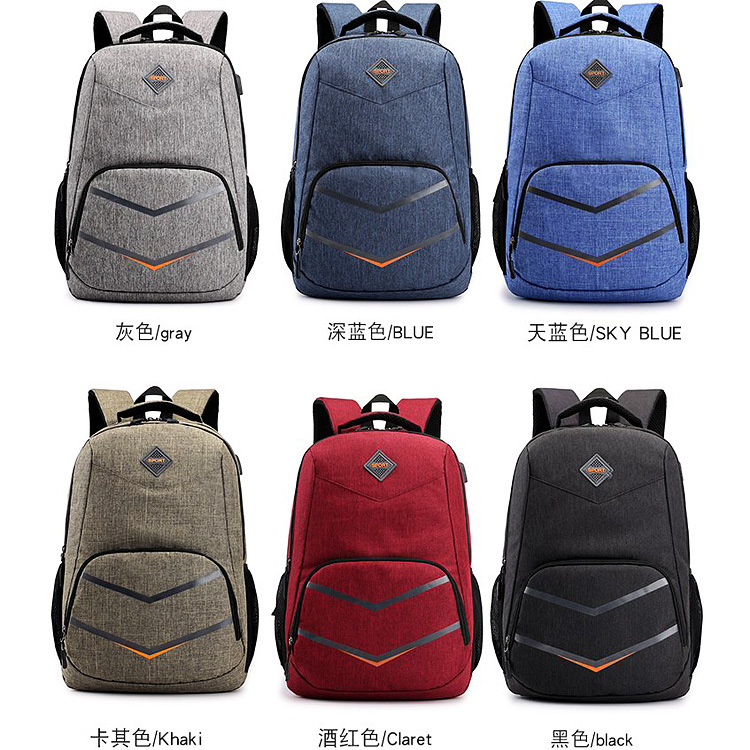Men women backpack New Style Anti Theft Backpack USB Intelligent Charging Leisure Shoulder Bag Oxford Cloth Male Female in Backpacks from Luggage Bags