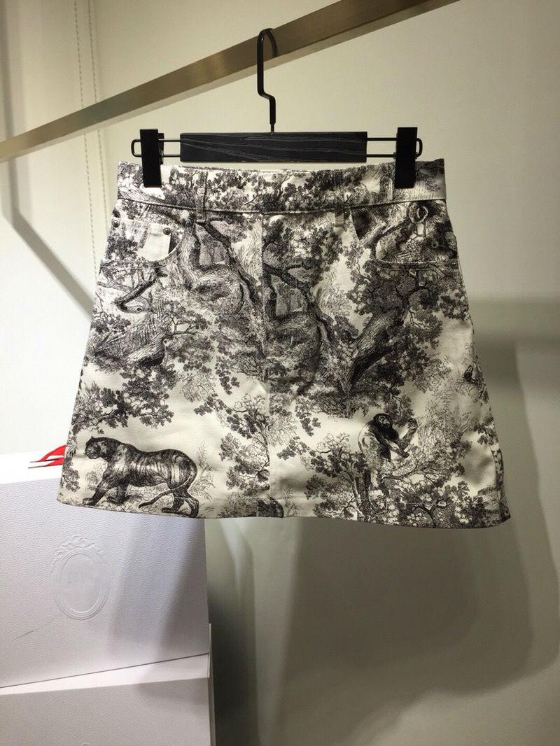 2019 nueva falda de mezclilla de pintura de tinta de moda para mujer freeshipping-in Faldas from Ropa de mujer    1