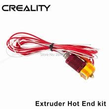 MK8 собраны экструдер горячей конец комплект для CREALITY 3D-принтеры CR-7/CR-8/CR-10 1,75 мм 0,4 мм принтера сопла алюминиевого Блока нагрева