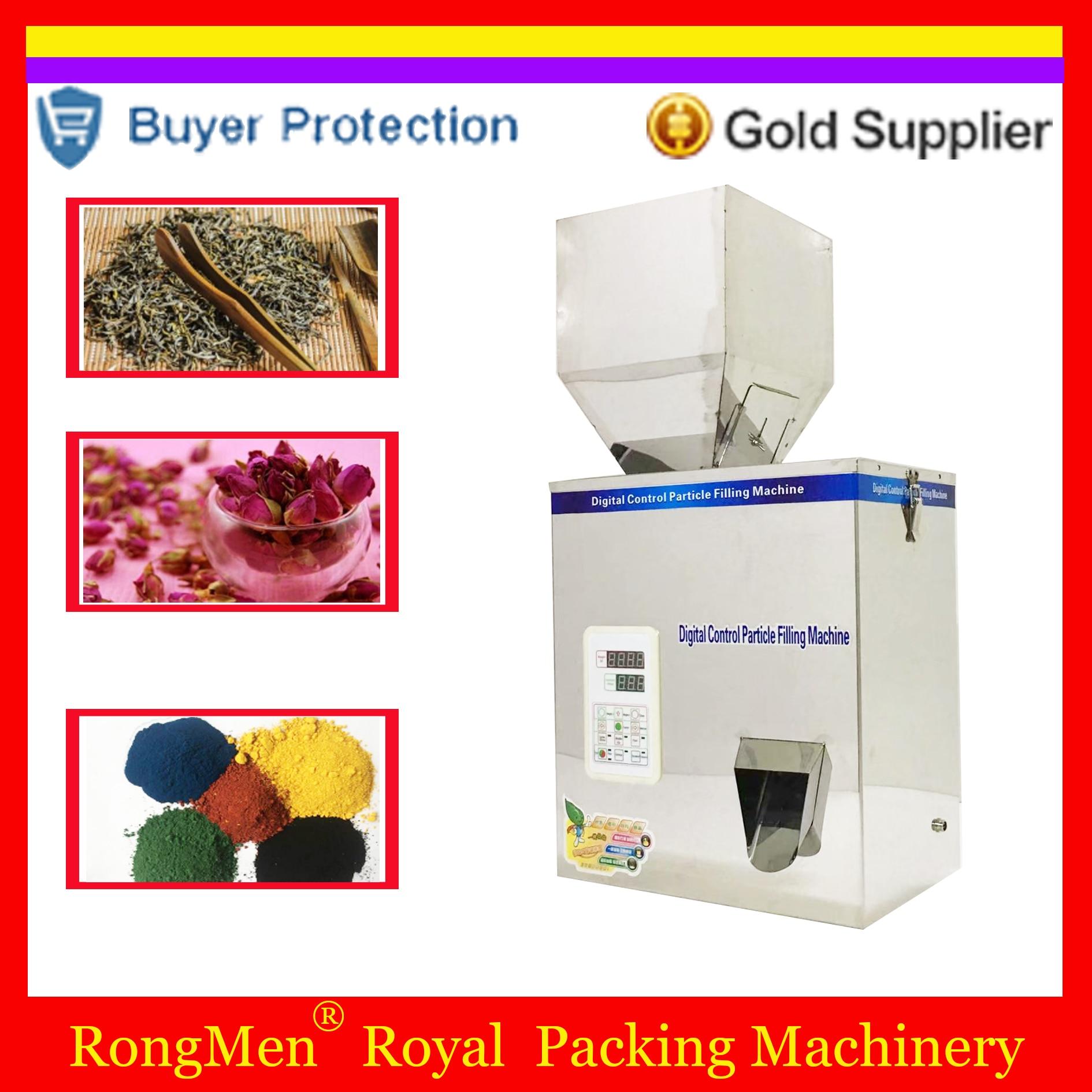 500model scale herb filling and weighing machine tea leaf grain medicine seed salt rice packing machine