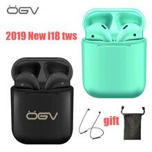 ОГВ 2019 Оригинал i18 СПЦ 1:1 Беспроводной наушники Портативный 5,0 Bluetooth невидимая гарнитура вкладыши для всех смартфонов