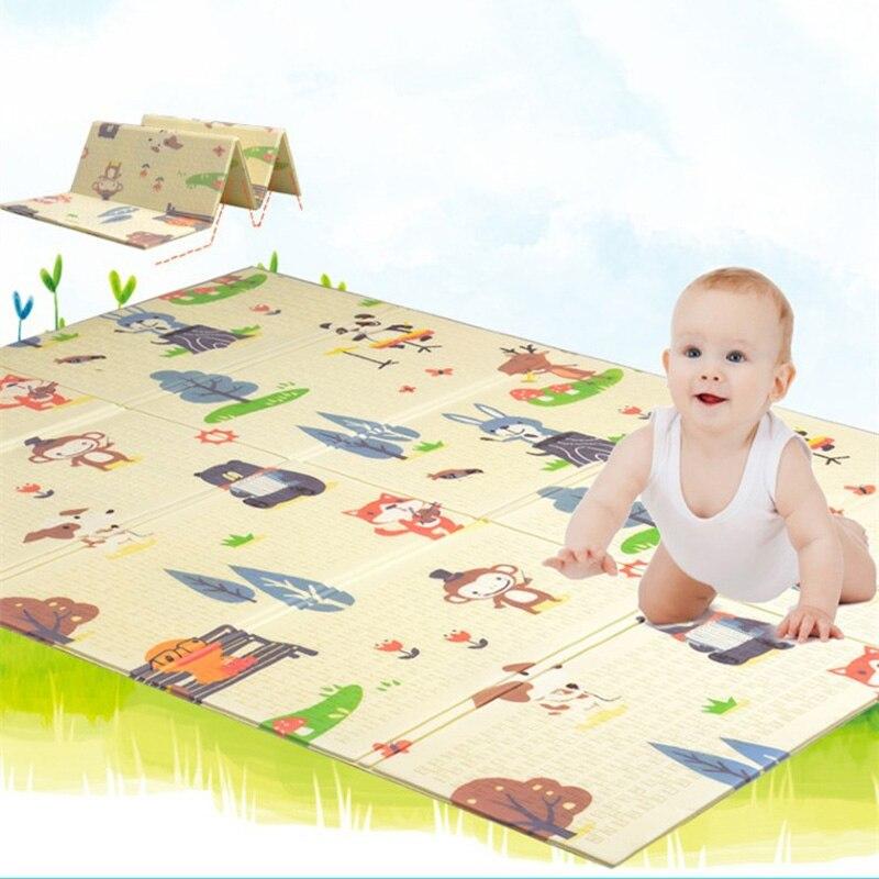 Bébé Tapis de Jeu Xpe Tapis de Puzzle 200x180 cm Enfants Épaissie Jouets Tapete Infantil Enfants Ramper Tapis En Développement tapis Dinosaure